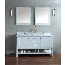 White Double Vanity 60 Bathroom Katherine 60 Bath Vanity Traditional Vanities And Inside