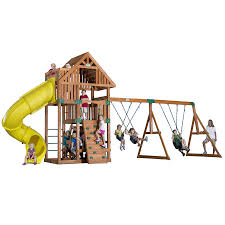 Wood Backyard Playsets by Shop Backyard Discovery Excursion Expandable Residential Wood