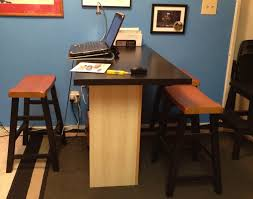 Adjustable Height Desks Ikea by Breakfast Bar Home Office Desk Ikea Hackers Ikea Hackers