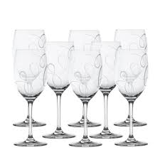 crystal wine glasses buy love story set of 8 crystal wine glasses online at mikasa com