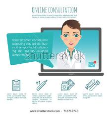 vector infographic online healthcare diagnosis medical stock