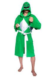 power rangers green ranger hooded robe mesh mask
