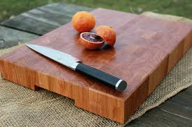 handmade butcher block cutting board cherry end grain with