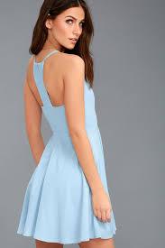 light blue dress skater dress fit and flare dress 58 00