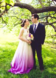 handmade custom ombre wedding gown example by janay a eco bridal