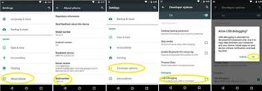 debugging android enable usb debugging mode on android devices on kitkat or above