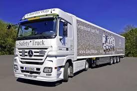 mercedes truck mercedes benz charterway adorns ten trailers with european soccer