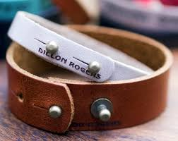 leather bracelet with buckle images Personalized leather bracelets with custom engraving jpg