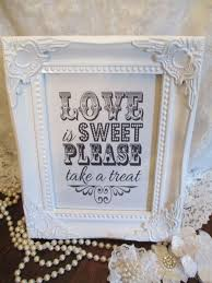 candy baraged white sign love is sweet wooden shabby chic vintage