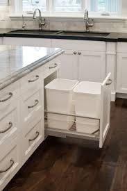 Kitchen Island With Garbage Bin Cabinets U0026 Storages Both Functional And Aesthetical Kitchen Pull
