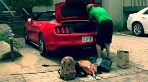 mustang convertible trunk how much luggage fit in a ford mustang convertible