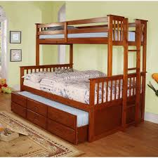 Bunk Bed Trundle Bed Bunk Bed With Trundle New On Simple Oak
