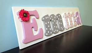 Decorating Wooden Letters Nameboard Hand Painted And Decorated Wooden Letters For
