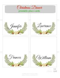 printable placecards place cards printable christmas printable place cards pinkwhen