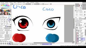 tutorial colorear ojos paint tool sai youtube