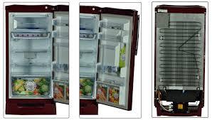 godrej edge digi 192 l refrigerator wine red
