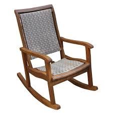 Jefferson Rocking Chair Outdoor Interiors 21095ash Eucalyptus Rocking Chair The Mine