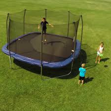 skywalker 13 ft square trampoline with enclosure hayneedle