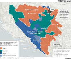 russia map after division bosnia s ethnic divisions before and after dayton