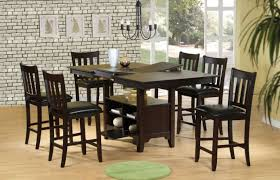 Dining Room  Reclaimed Wood Counter Height Table Beautiful Tall - Bar height kitchen table
