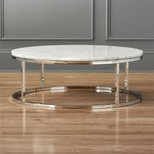 Chrome And Glass Coffee Table Smart Round Marble Top Coffee Table Cb2