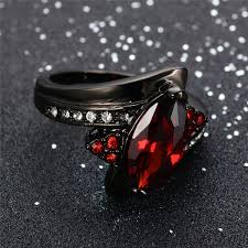 gothic ruby rings images Red garnet gothic ring dark moon jpg