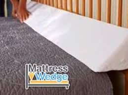 tv bed pillow mattress wedge fits any size bed storage pockets as seen on tv
