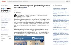 hacking ideas 6 ingenious growth hacking ideas from quora