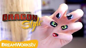 night fury nail art with bananajamana dragon style youtube