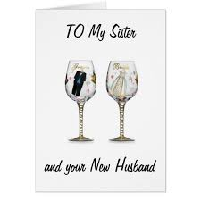 sister celebrate your love wedding wishes card zazzle com
