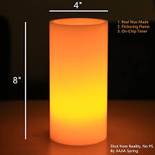 3 candle electric light flickering led flameless candle light 8 x4 ivory unscented wax