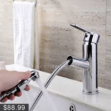 pull out bathtub faucet convenient pullout spray deck mounted bathroom sink faucet