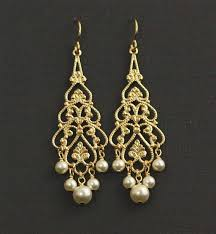 and pearl chandelier gold pearl chandelier earrings pearl bridal earrings gold