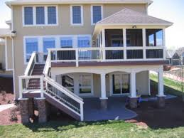 love the enclosed porch decking and stairs to the lower level