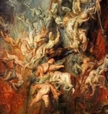 bureau vall馥 valenciennes paul rubens fall of the damned detail c 1620 painting