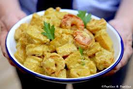 cuisine crevette crevettes à l ananas et au curry