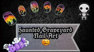 Diy Easy Halloween Drag Marble Nails Design Cute Dry Nail Art by 100 Nail Art Easy Halloween Nails Bats Cats Design Tutorial