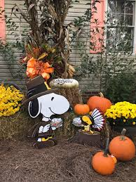 Thanksgiving Outdoor Decorations Lighted Snoopy Thanksgiving Yard Art Woodstock Happy By Hashtagartz