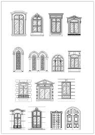 ornamental door window bundle cad design free cad blocks