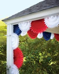 Red Flag White Flower Patriotic Red White And Blue Crafts And Party Decorations