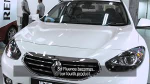 renault malaysia renault starts the production of fluence in malaysia youtube
