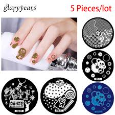 popular nail stamping plates round buy cheap nail stamping plates