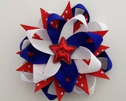 fourth of july hair bows fourth of july hair bow 4th fireworks white blue american