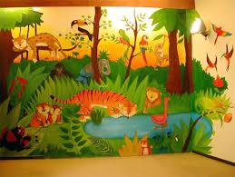 fresque chambre b fresque murale chambre bebe fresque murale sur un seul pan de mur ou