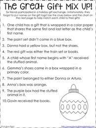 christmas logic puzzle by lindsay perro teachers pay teachers