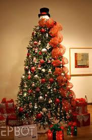 tree decorated like a snowman rainforest islands ferry