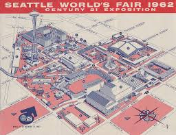 Seattle Monorail Map by Seattle World U0027s Fair 1962 Map Of The Fairgrounds 1 U S S U2026 Flickr