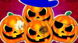 five scary pumpkins halloween song nursery rhymes videos for