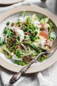 pasta salad prosciutto pea and pesto pasta salad broma bakery