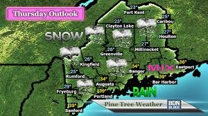 Portland Weather Map by Nor U0027easter To Bring Heavy Snow Wind To Maine Thursday Pine Tree